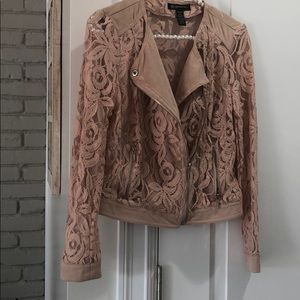 INC PALE PINK LACE JACKET